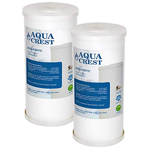 AQUA CREST FXHTC Whole House Water Filter, Compatible with GE FXHTC, American Plumber WRC25HD Whole Home System Filter (Pack of 2)