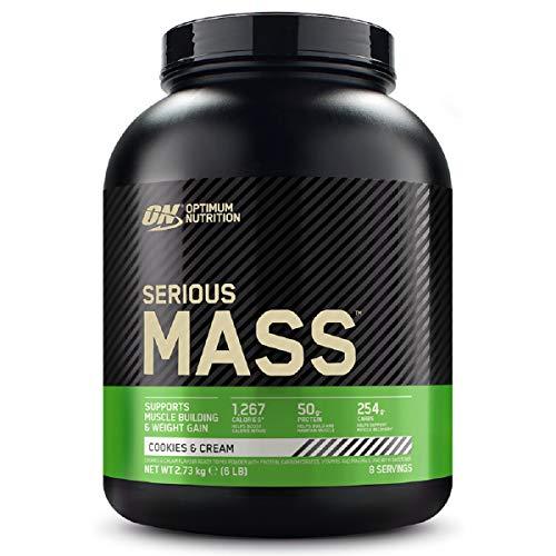 Optimum Nutrition Serious Mass Protein Powder High Calorie Mass Gainer with Vitamins, Creatine Monohydrate and Glutamine…
