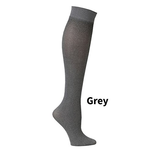 3ffad0cd9 Women s Subtle Patterned Mild Compression Hose Wide Calf Socks - Grey. by celeste  stein designs