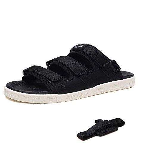 regolabili all'aperto Scarpe da libero al uomo adatti Qingqing assorbenti sandali uomo Black Sandali e chiusi casual pelle casual sudore il tempo da scarpe antiscivolo coperto per in comfort fdxAU