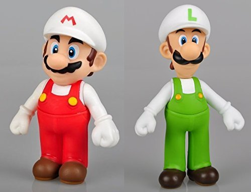"Super Mario Bros 5"" / 12cm Mini Mario & Luigi 2pcs Set PVC Action Figures Doll Anime Collection Model Toy"