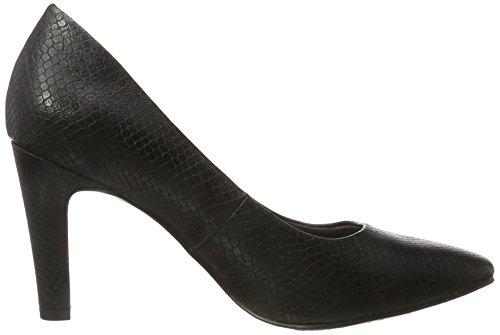Tamaris Snake Black Escarpins Noir 22470 Femme aAr7qga
