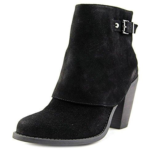 Jessica Simpson Womens Caralyne Lederen Gesloten Teen Enkel Mode Laarzen Zwart