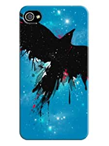Creepy crow iphone4 sell well graffiti gel case