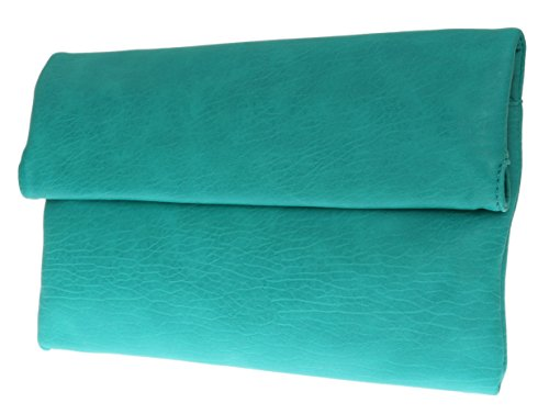 De Cuir Millésime Nouveau Pliable Soirée Pochette Soirée Main Pliez À Néon Girly Sarcelle Bleu Sac Main HandBags UTpnRn
