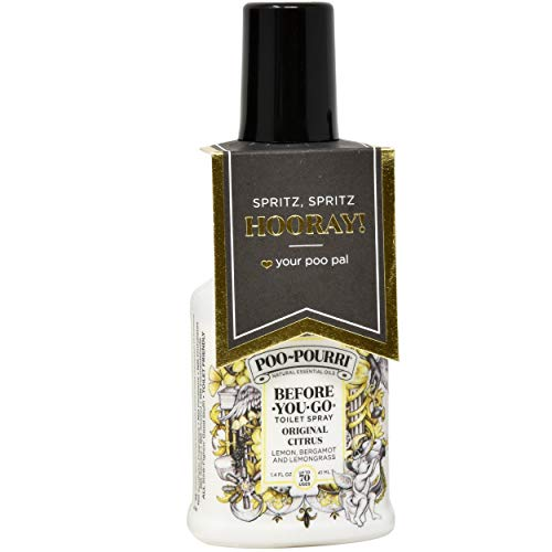 Poo-Pourri in A Pinch Pack Toilet Spray Gift Set, 5 Pack 10 mL, 1.4 Ounce Original Bottle and Bottle Tag Included by Poo-Pourri (Image #2)