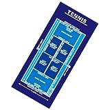 作戦ボードタオル・テニス・スポーツタオル/blue(青)