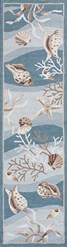 KAS Oriental Rugs Sonesta Collection Shells Runner, 2' x 7'6