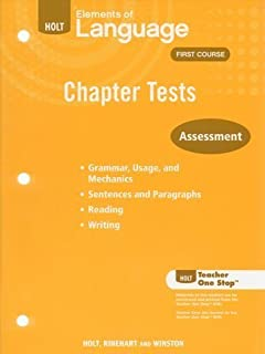 Elements of language assessment first course test answer keys holt elements of language first course chapter tests fandeluxe Image collections