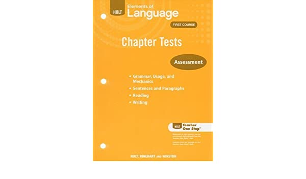 Holt elements of language first course chapter tests various holt elements of language first course chapter tests various 9780030991509 amazon books fandeluxe Gallery