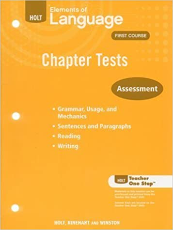 Holt elements of language first course chapter tests various holt elements of language first course chapter tests various 9780030991509 amazon books fandeluxe Image collections