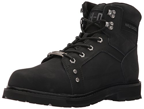 Harley Davidson Leather Fashion Boots (Harley-Davidson Men's Keating Work Boot, Black, 10.5 M US)