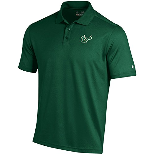 (Under Armour NCAA South Florida Bulls Men's Loose Fit Performance Polo, Medium, Dark Green)