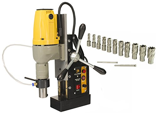 Steel Dragon Tools MD40 Magnetic Drill Press with 13pc 1'' HSS Annular Cutter Kit by Steel Dragon Tools