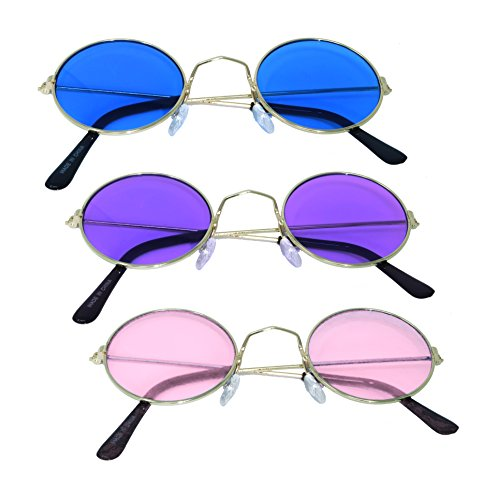 SNInc. John Lennon Style Sunglasses Costume Accessory - Choose Your Own Color (3 - Lennon John Hippie Glasses