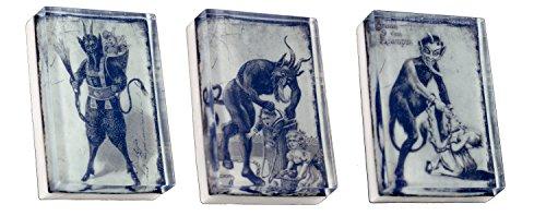 CreepySoap Vintage Krampus Collection B 3-4 oz. Bath Bars -