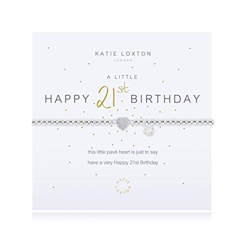 Katie Loxton - A Little Happy 21st - Silver Bracelet by Katie Loxton