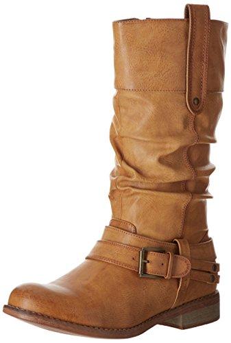 Rieker 95672 - Biker Boots de material sintético mujer marrón - Braun (cayenne 24)