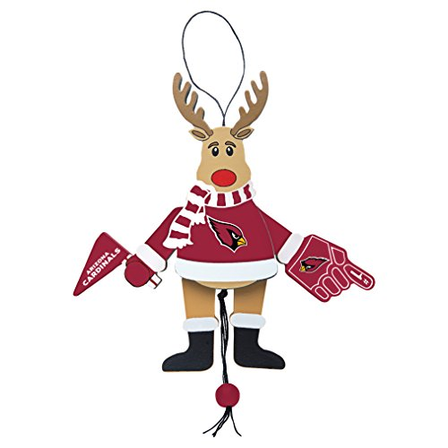 NFL Arizona Cardinals Wooden Cheer Ornament