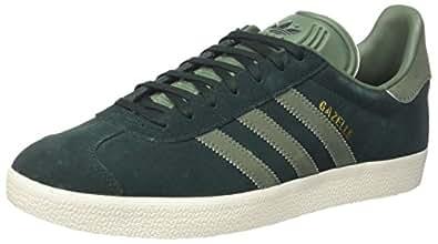 adidas Gazelle, Zapatillas para Mujer, Gris Night F17/trace Green S17/gold Met, 40 2/3 EU
