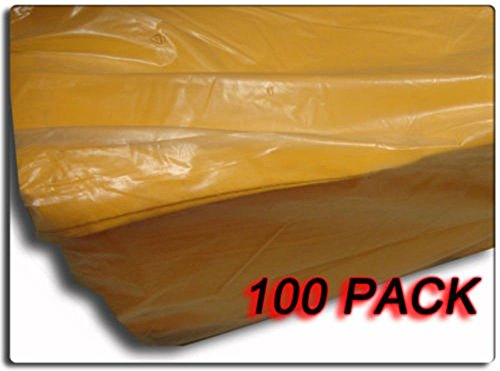 Set of 100 - XX-Large 27'' x 19.5'' Orange Chamois Cloth - Made In Germany by Pro Cut