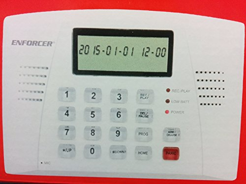 (Seco-Larm E-921CPQ Automatic Voice Dialer for Security Systems, Trigger-activated alarm and dialer with user-programmable 20-sec alarm message, 16-Digit large display with date/time and function)