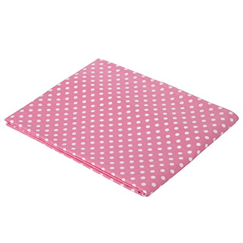 (Pink pin Dots Crib fitted sheet)