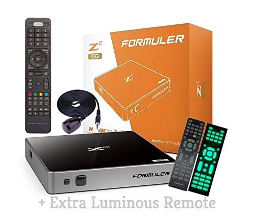 2019 FORMULER Zx 5G Built in WiFi Dual Band & Bluetooth 1GB RAM DDR4 with Smart Learning Remote + Extra Luminous Remote + Free 3 IN1 Charger