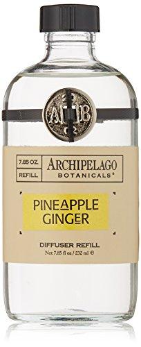 Archipelago Botanicals Pineapple Ginger Diffuser Refill, 7.85 Fl Oz