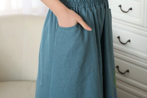Acvip Trapèze Bleu Foncé Femme Robe rxffqSnX8B