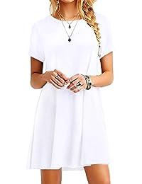 YMING Women's Short Sleeve Casual Loose T-Shirt Dress XS-4XL