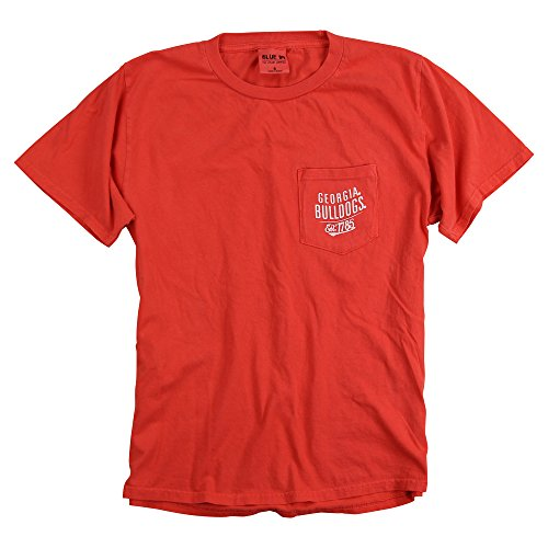 Blue 84 Adult NCAA 100% Cotton Pocket T-Shirt (Georgia Bulldogs, Small)