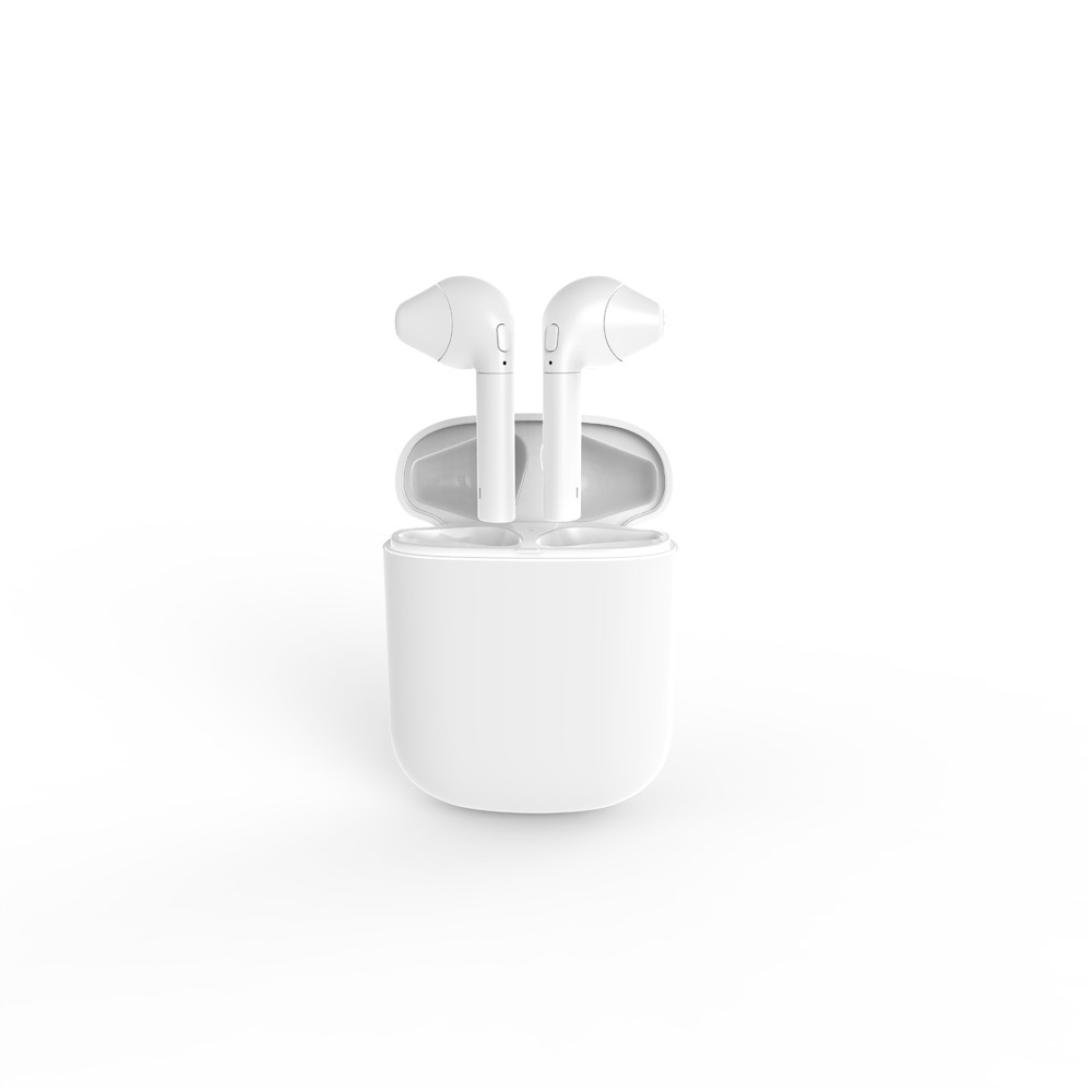 Sonmer Mini Wireless In-ear Outdoor Sports Handfree Headphones With Charging Box (White)