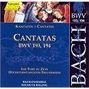 Sacred Cantatas Bwv 193-194
