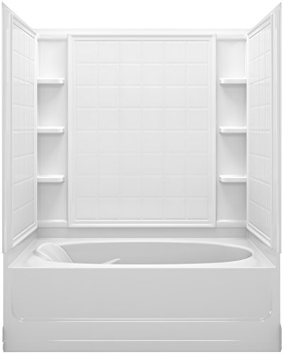 Fiberglass Shower Walls (Sterling Plumbing 71100122-0 Ensemble Bath and Shower Kit, 60-Inch x 36-Inch x 72-Inch, Right-Hand, White)
