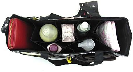16 poches EXTRA LARGE 34x19x13cm Janis noir Periea Sac de rangement//Pochette//Organisateur int/érieur pour sac /à main