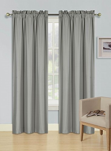 - GorgeousHomeLinen (R64) 1 Silver Curtain Thermal Insulated Lined Foam Backing Rod Pocket Blackout Drape Panel (84