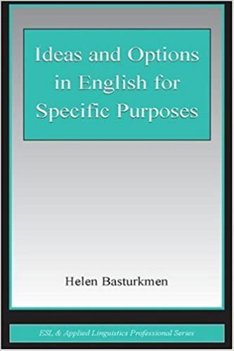 Book Ideas and Options in English for Specific Purposes (ESL & Applied Linguistics Professional Series)