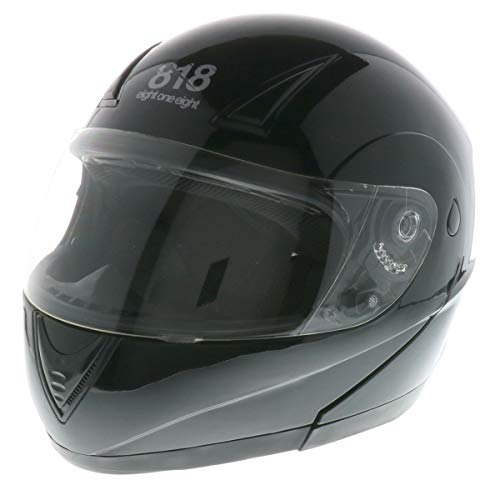 818 H340 Modular Flip-Up Helmet (Black, XX-Large)