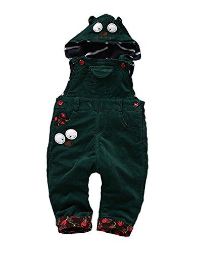 Kidscool Baby Winter Corduroy Adjustable Soft Fleece Cartoon Hooded (Corduroy Girls Overalls)