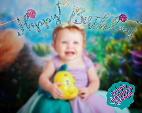 Mermaid Tails Under The Sea Decorations Supplies Kit for Birthday, Bridal & Baby Shower Themed Let's Be Little Mermaids Party - Premium Quality by PomPomGLAM Photo #2