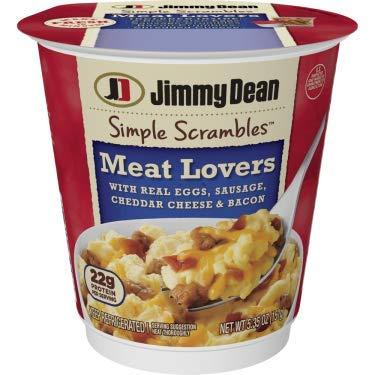 Jimmy Dean Simple Scrambles, Meat Lover's Breakfast Cup, 5.35 Oz. (6 count) (Jimmy Dean Delights Turkey Sausage Breakfast Bowl)