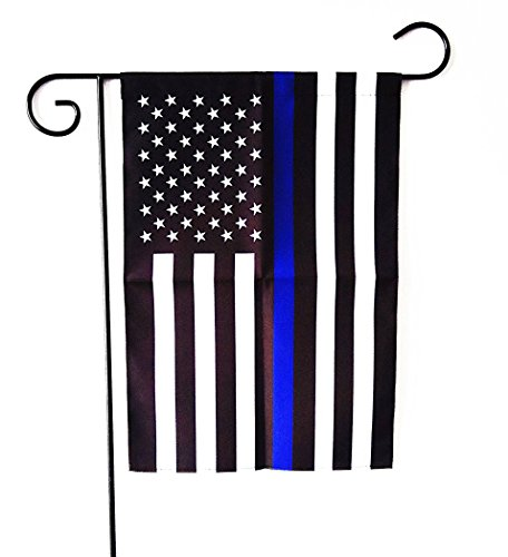 - ERT Thin Blue Line Flag Garden Flag 12.5 x 18 Inch Police Flag American Flag Made by Oxford