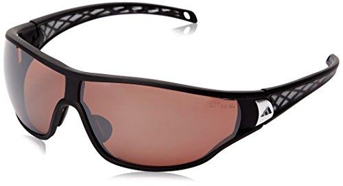 adidas Tycane Pro L A189 6050 Polarized Rectangular Sunglasses, Matte Black & Grey, 74 mm (Adidas Tycane)