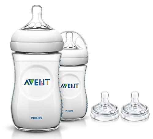 Philips Avent 2 Count Natural Polypropylene Bottles with Rep