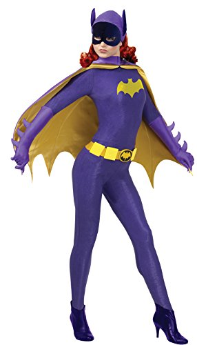 Rubie's Costume Grand Heritage Batgirl Classic TV Batman Circa 1966, Purple/Gold, Medium Costume
