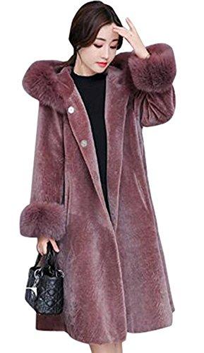 クーポンハッチ見る人ファーコート レディース 秋冬 毛皮コート フォックス ロングコート フェイクファー 上着 暖かい 防寒 お洒落 レディース 中綿コート  2way ベスト ファーベスト フード付き  20代 30代 40代 50代