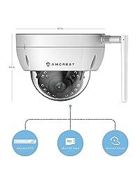 Amcrest ProHD - 2 unidades de cámara al aire libre de 4 megapíxeles (2688 x 1520P) WiFi inalámbrica IP para domo de bala IP67 resistente a la intemperie, 4 MP (1080P 1520P), IP4M-1026-28