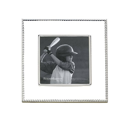 "Reed & Barton Lyndon Silverplate 5"" x 5"" Frame"
