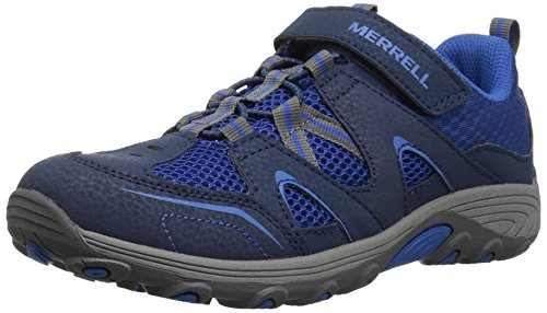 Merrell Trail Chaser Hiking Shoe, Navy, 4 M US Big Kid by Merrell